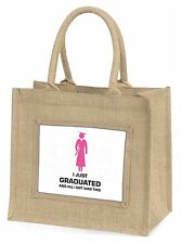 Graduation 'All I Got Was This' Large Natural Jute Shopping Bag Chris, GRAD-8BLN