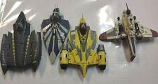 LOT 4 STAR WARS TRANSFORMERS Jedi Starfighter Arc-170 Clone ship parts Plo Koon