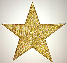 5 Inch GOLD Star Iron On Patch Patches - As Many As You Want: $2.69 Ship - 53