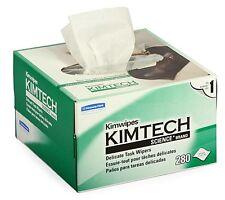 "NEW KIMBERLY-CLARK KIMWIPES LINT FREE CLOTH BOX OF 280 KIM WIPES 4.4"" x 8.4"""