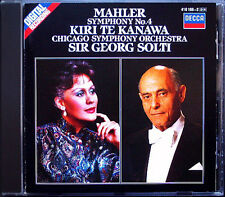 Sir Georg Solti: MAHLER SYMPHONY NO. 4 Kiri Te Kanawa Decca CD 1984 Chicago così