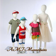 Child Mannequin removable head flexible pinnable manequins,4 kids manikins