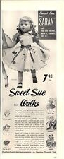 "1952 American Character ""Sweet Sue"" Doll schoolgirl & 3 others detailed PRINT AD"