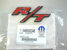 RED MOPAR R/T Emblem Dodge Challenger Charger Red Jeep Chrysler OEM 4806323-AB