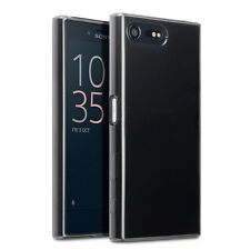Sony XPERIA X case compatto SLIM PROTEZIONE TPU Micro SCUDI FUMO Gel Nero