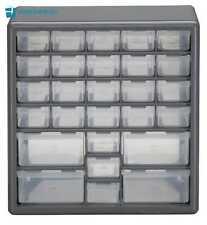 Plastic Drawer Storage Cabinet Organizer 27 Boxes Parts Container Bin Toy Garage
