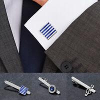 Men Wedding Tie Clip Outwear Suit Cufflinks Tie Claps Formal Business Cufflinks
