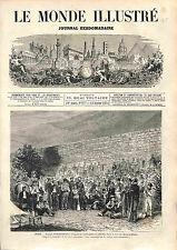 Refugee of Cartagena Spain in ORAN ALGERIA Rebelion cantonal ANTIQUE PRINT 1874