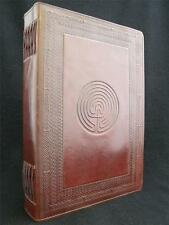 A4 LABYRINTH Handmade Leather Wicca Book of Shadows Grimoire Journal Guest Book