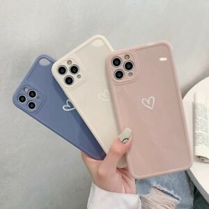 Girly Heart Case For iPhone 11 Pro Max 12 XR 8 7 SE Shockproof Soft TPU Cover