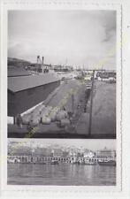 Format CPA Photo RPPC ALGERIE Alger Port rampe chargement tonneaux multivues