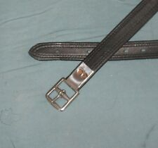 SALE Black calfskin English Dressage stirrup leathers wrapped 60,54,48