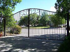 Beautiful custom driveway gate 16' wide  6' at center
