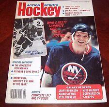 Action Sports Hockey Bobby Orr / Denis Potvin 1977 Bobby Orr's last Hurrah