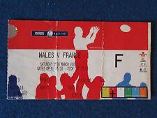 BIGLIETTO Rugby Internazionale-GALLES/FRANCIA - 15/3/08