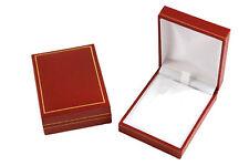 De Lujo Imitación Cuero Gota Colgante Caja de joyería Pantalla almacenamiento Caja De Regalo