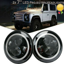 For Hummer H1 H2 H3 SUV 2x 7Inch 150W LED Headlight High/Low DRL Beam Angel Eyes