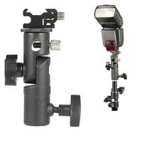 Hot Shoe Mount E Type Flash Bracket / Umbrella Holder Stand for Nikon Canon Sony
