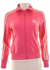 ADIDAS Womens Tracksuit Top Jacket EU 36 Small Pink Polyester  KM13