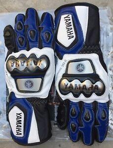 Yamaha Motorbike Leather Motogp Riding Gloves All Sizes Available