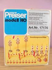 PREISER 17176 segnaletica da cantiere stradale 1/87.