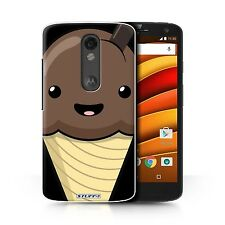 STUFF4 Phone Case for Motorola E & G Smartphone/Kawaii Food/Protective Cover