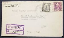 US Registered Cover Boylston Patriotic Liberty Stamp 15c 1937 USA R-Brief (Y-351