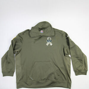 New York Jets Nike Therma-FIT Sweatshirt Men's Olive Used