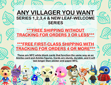ANY VILLAGER, YOU NAME IT! Animal Crossing New Horizons Amiibo NFC Cards ACNH