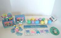 Hallmark Easter Collection Crayola Bunny Figurines Garland Pin Plastic Eggs NOS