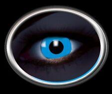 ZOE UV BLUE lentille de couleur bleu blau lens contact halloween glow UV vampir