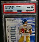PSA 8 NM/MT 2000 Skybox TOM BRADY Rookie Football Card #27 Impact New England RC