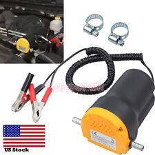 12V Oil Diesel Extractor Suction Pump Transfer Change Pump For Motor Car Boat US