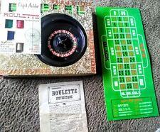 Vintage Roulette Wheel Game  Cap'd Antibe Transogram - Complete Set 1960's