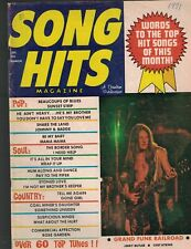 Song Hits Magazine March 1971 Grand Funk Railroad Chet Atkins Jerry Butler