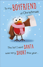 To My Boyfriend At Christmas Funny Christmas Greeting Card Humour Xmas Cards
