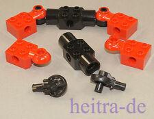 LEGO Technik / Bionicle - 2 x Rotationsgelenk 5 teilig rot / schwarz NEUWARE