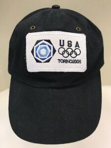 Roots USA 2006 Torino Winter Olympics Ball Cap Dad Hat Blue Men Unisex OSFA