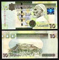 Libya 10 Dinars 2011 , UNC , Prefix 7A , De La Rue Print , P 78