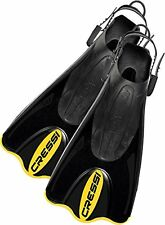 Cressi Palau SAF Snorkelling Fins L/XL Black/Yellow For Swimming And Snorkeling