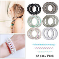10 PC Plastic Hair Ties Spiral Hair Ties No Crease Coil Hair Tie Ponytail J6S5