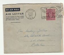 GREAT BRITAIN, AN  AIR LETTER, TO PALESTINE   UNITED NATION 1945  CANCELLATION.