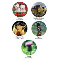 Glossy Glass look Scottish Fridge Magnets Great Gift from Highland cow, Thistle