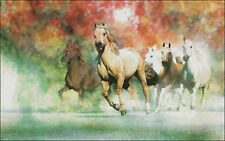 Needlework Crafts Embroidery Counted Cross Stitch Kits - Group Horses Running