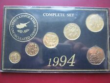 Cyprus coinage 1994 UNC 6 coin collection set: 1 2 5 10 20 & 50 Cents