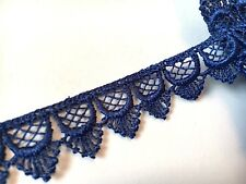 20mm coloured scalloped Feather drop design Guipure Lace trimming 5 colours