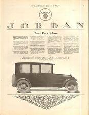 1917  JORDAN SEDAN ORIGINAL VINTAGE CAR AD