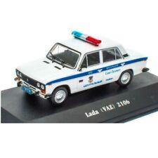 Lada VAZ 2106 1976 Policía police  1:43 coche Atlas Diecast