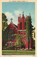 Postcard Episcopal Church Camden South Carolina