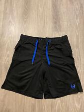 Hylete gym mma shorts mens size medium black drawstring